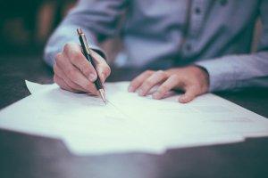 Zettel schreiben - Geschäftsmodell - Business