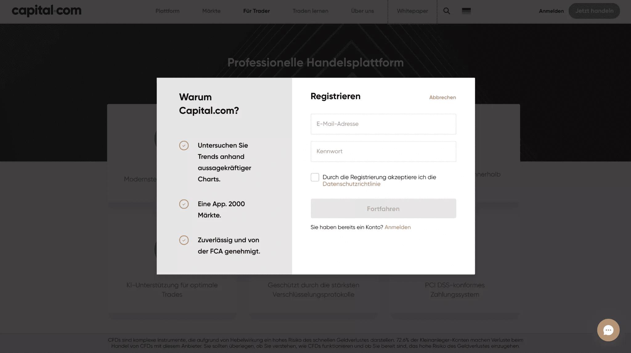 Capital.com Anmeldung (1)