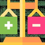 Vorteile Nachteile Pros and cons Icon