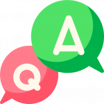 Fragen - Q&A - FAQ - Icon
