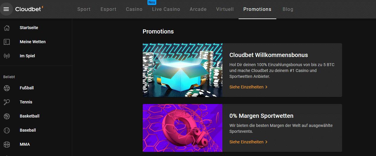 Cloudbet Bonus