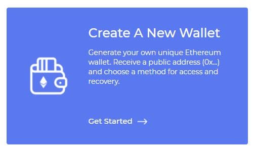 Create A New Wallet