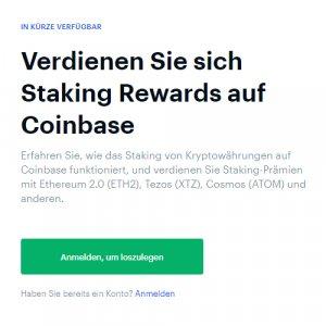 Staking Rewards auf Coinbase