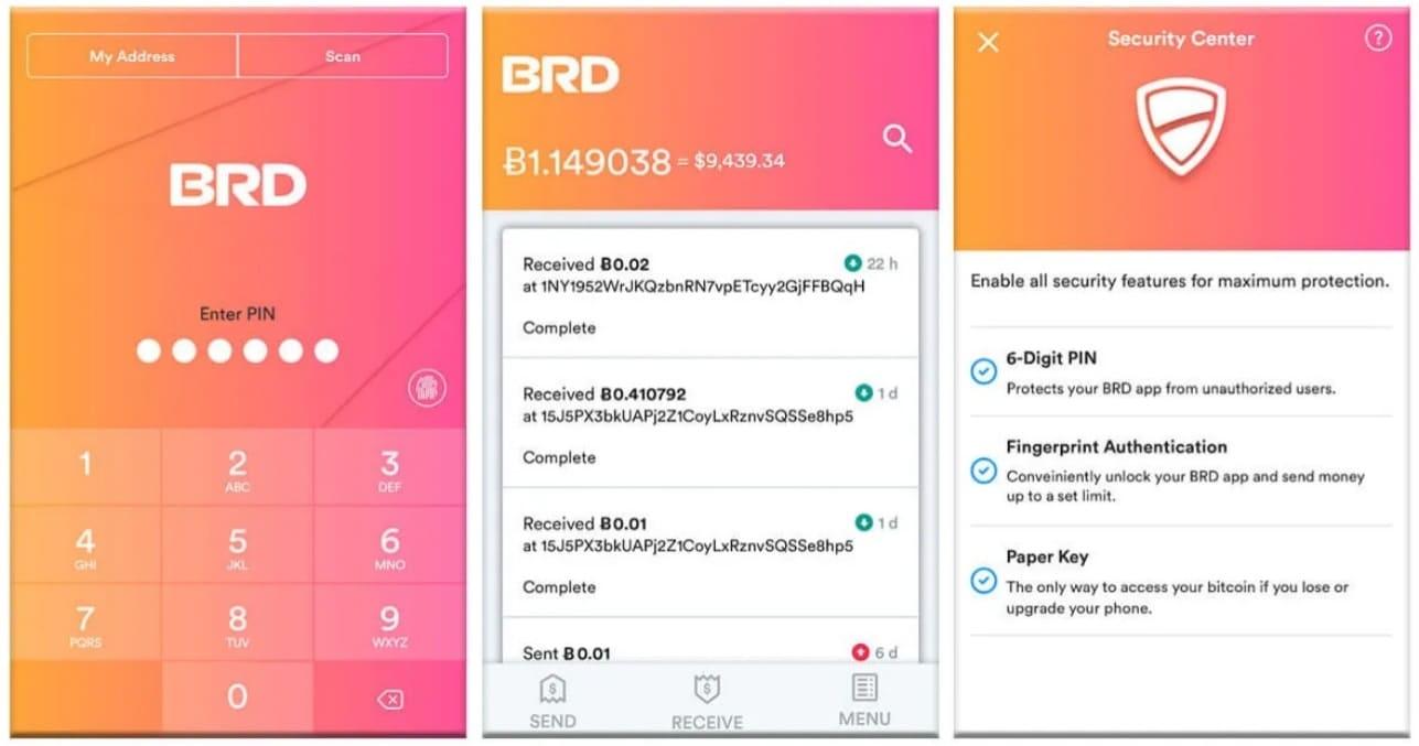 BRD Wallet Download Einrichtung