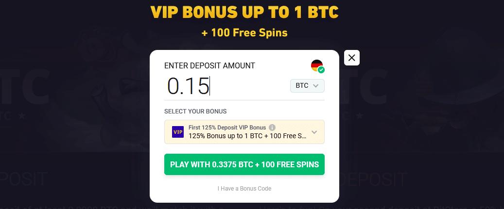 BitStarz Einzahlung