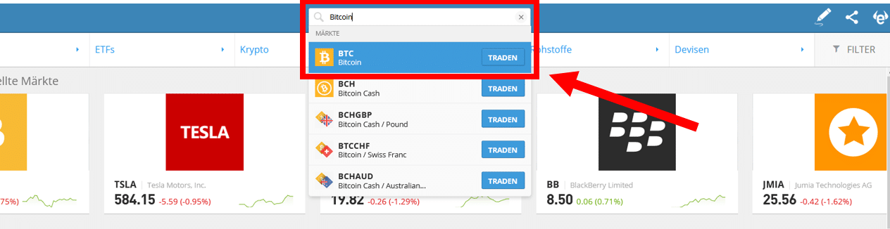 Bitcoin Kauf eToro