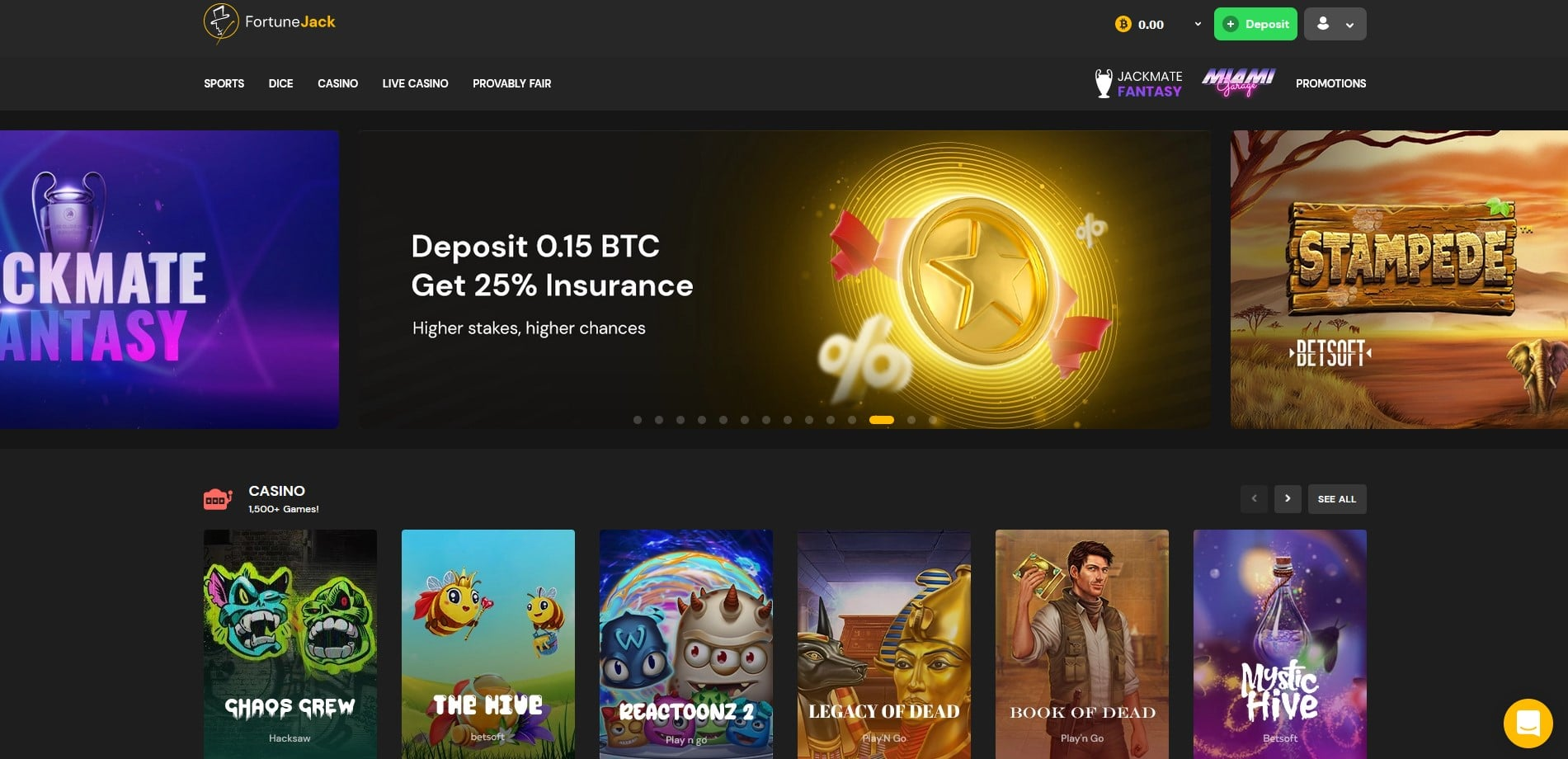 fortunejack main page