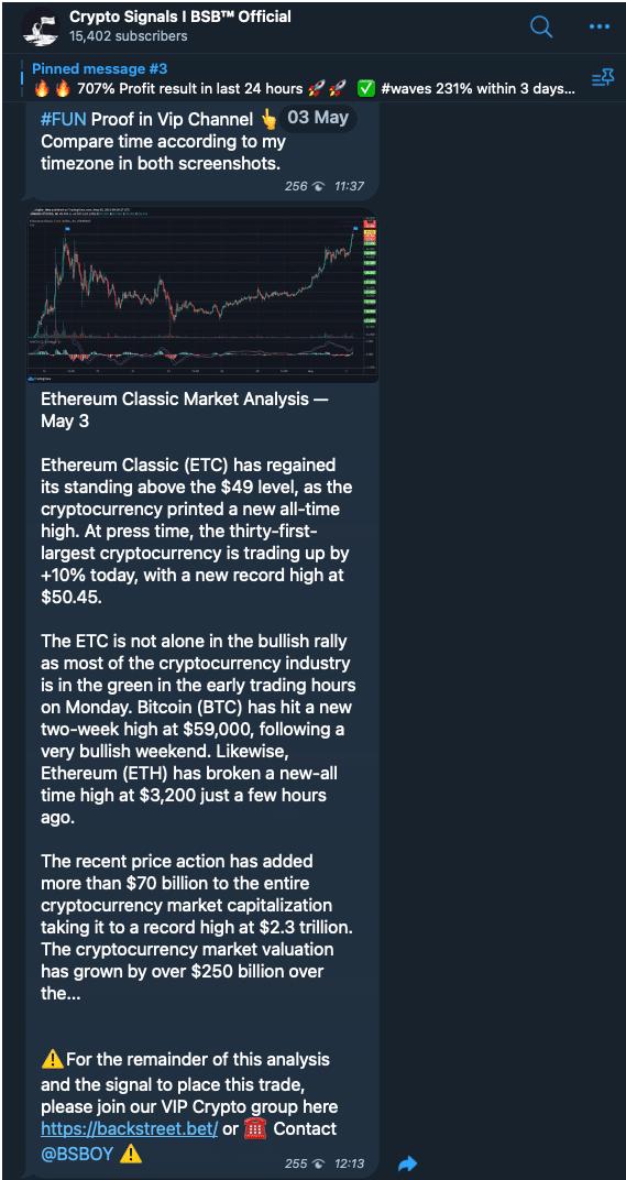 cryptosignals backstreet bets