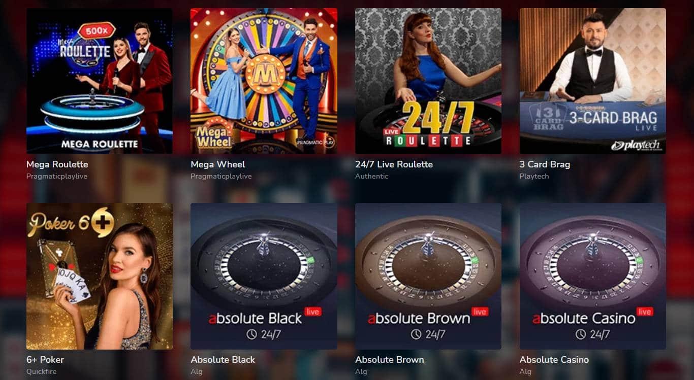Oshi Casino Live-Spiele