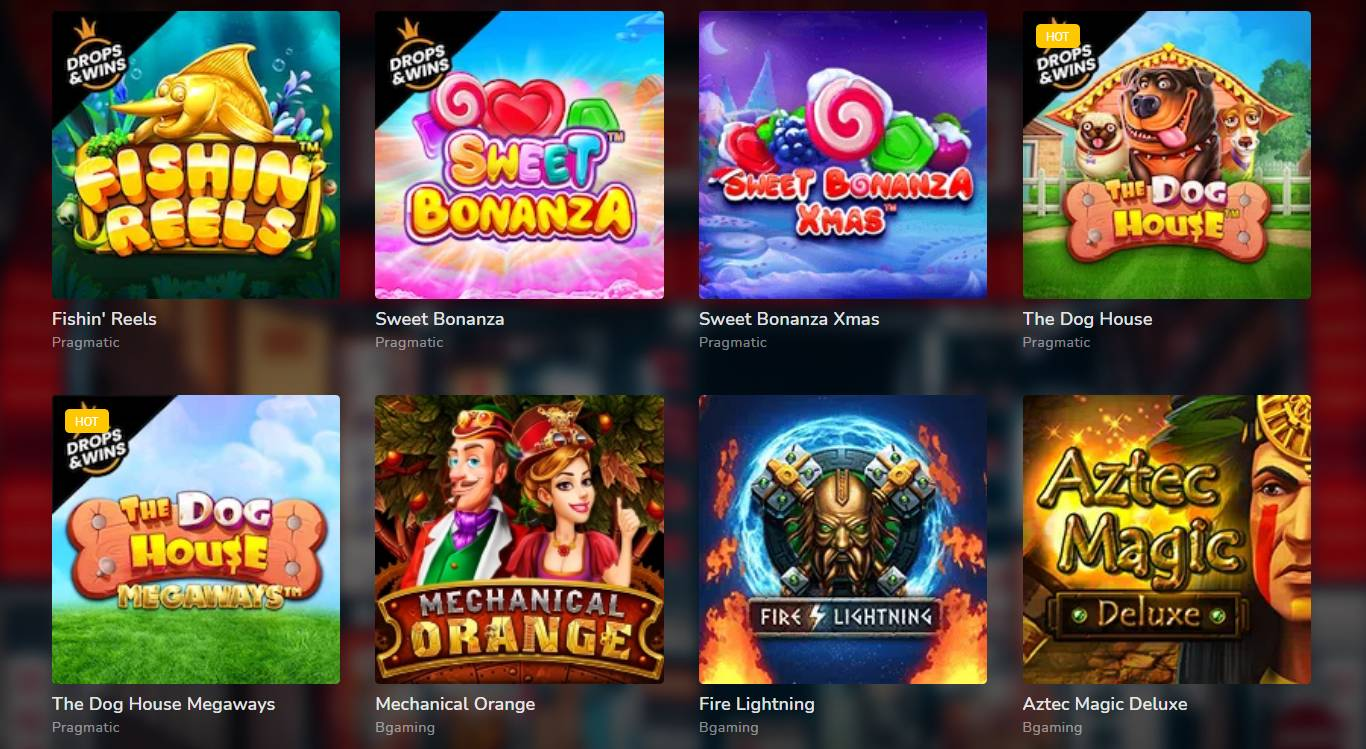 Oshi Casino Spielautomaten