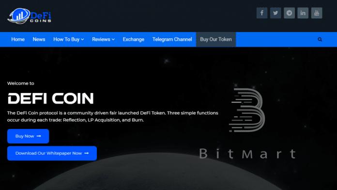 DeFi Coin (DEFC): Neues Börsen-Listing! DEFC ab 20.7. auf BitMart erhältlich