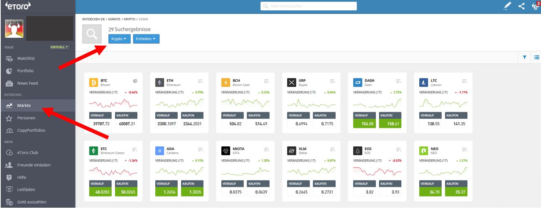 Energy Web Token Kauf bei eToro
