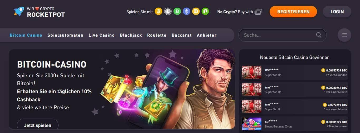 Rocketpot.io bonus