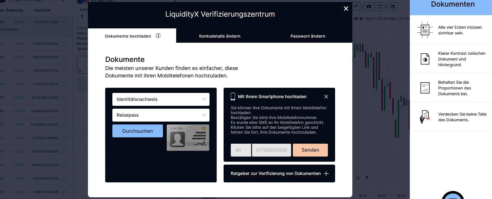 LiquidityX Verifizierung