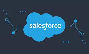 Salcesforce Logo mit schwarzen Hintergrund